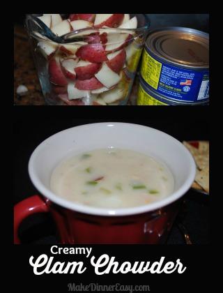 easy homemade clam chowder recipe