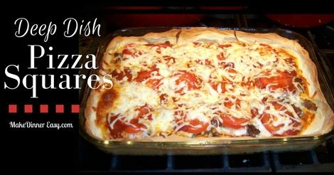 deep dish pizza squares