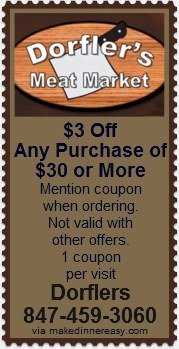 Dorfler's 3 off coupon
