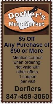 Dorfler's 5 off coupon