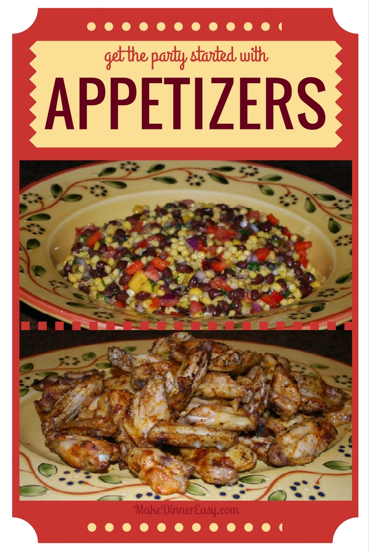 Easy appetizer recipes to start with.