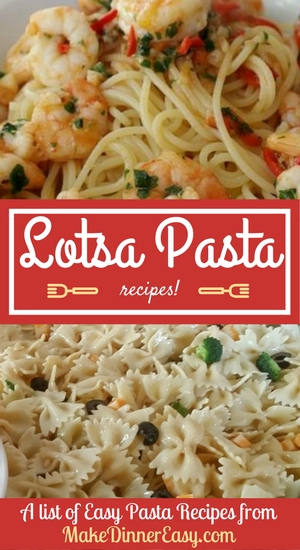 Lots of pasta recipes.