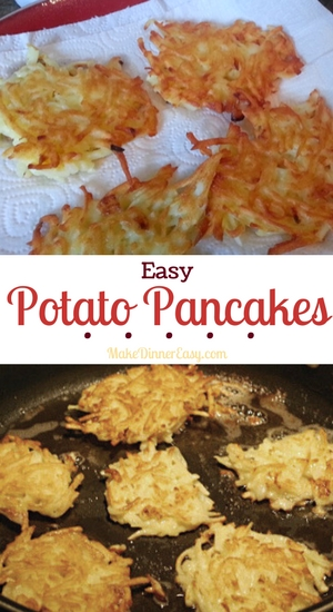 Easy potato pancake recipe