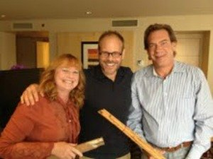 Patty and Tom Erd of The Spice House  with Alton Brown