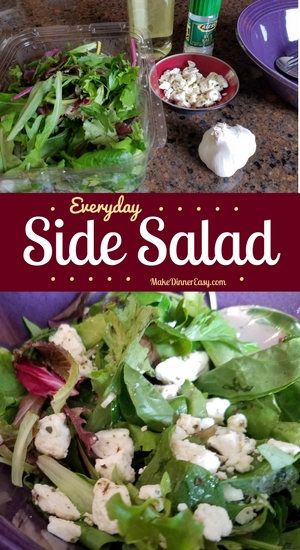 Everyday side salad recipe from Make Dinner Easy