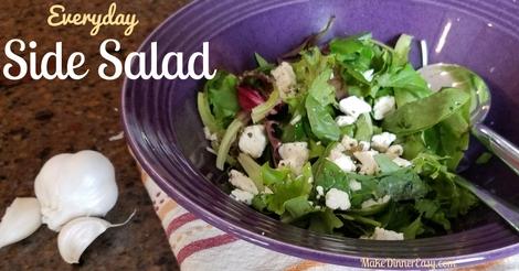 Easy everyday side salad recipe