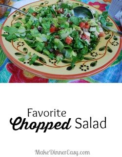 Favorite Chopped Salad from makedinnereasy.com