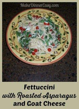 fettuccini with roasted asparagus recipe