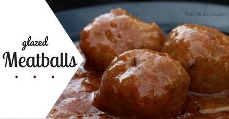 glazed meatballs recipe