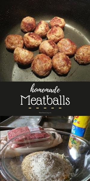 Homemade meatball recipe from MakeDinnerEasy.com