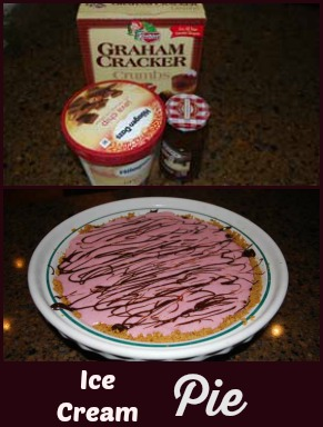 ice cream pie and ingredients