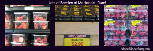 Lot of Blueberries to pick from at Mariano's