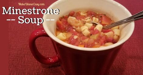 Minestrone Soup Recipe from MakeDinnerEasy.com