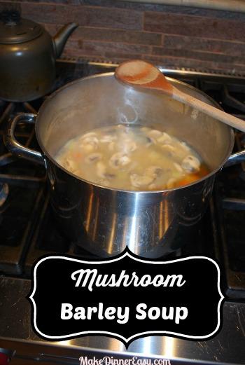 mushroom barley soup recipe