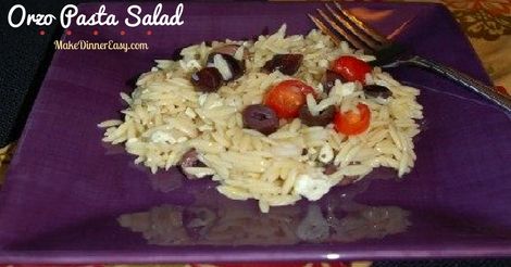 Recipe for Mediterranean Orzo Pasta Salad.