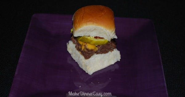 oven baked cheeseburger sliders