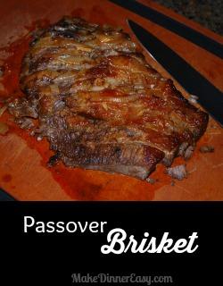 Passover brisket recipe