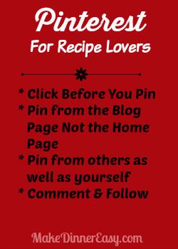 pinterest for recipe lovers