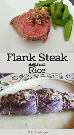 Flank steak stuffed with rice recipe