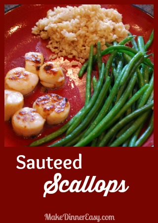 simple sauteed scallops