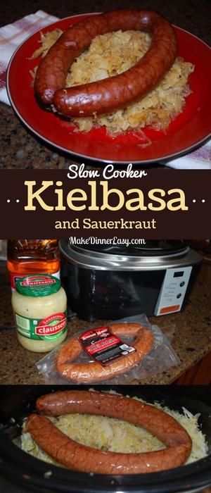 Slow cooker kielbasa and sauerkraut recipe