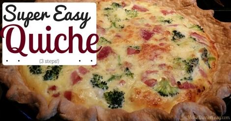 super easy quiche
