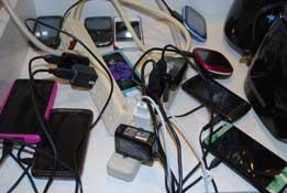 Team Phones Charging