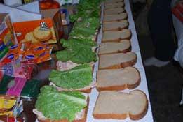 Team Sandwich Making
